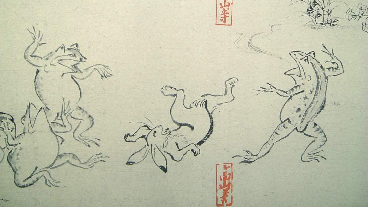 Los Chōjugiga, precursores del Manga, fueron los primeros dibujos humorísticos japoneses