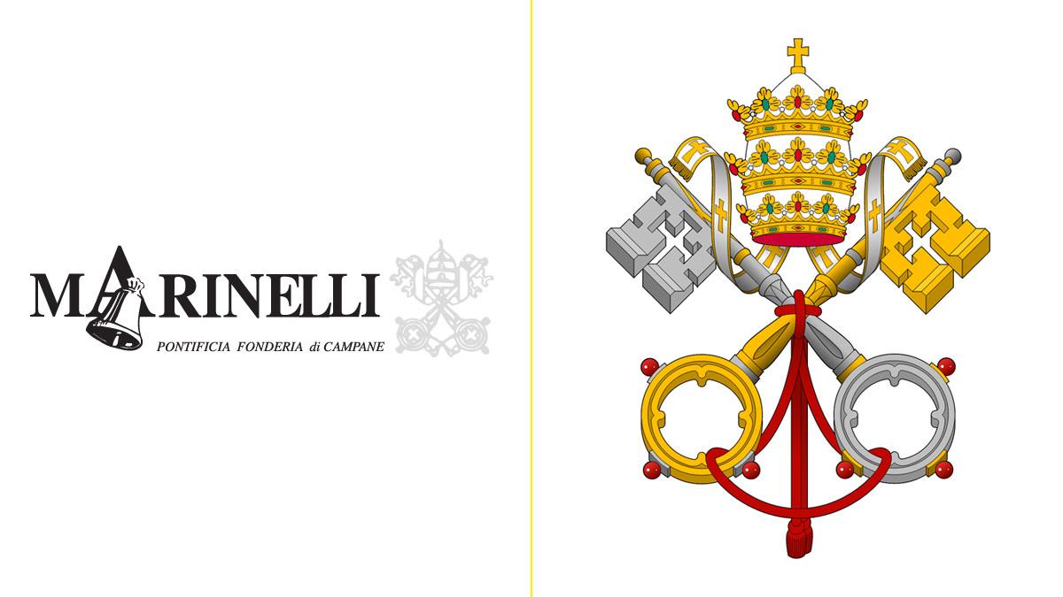 Marinelli tiene el privilegio de poder firmar sus campanas con el escudo papal