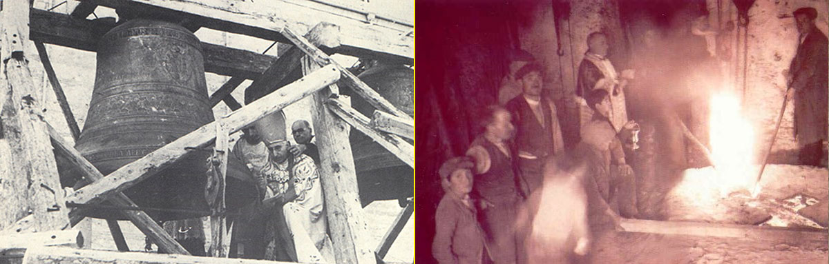 Ritual centenario de fundición de las campanas Marinelli (Siglo XX)