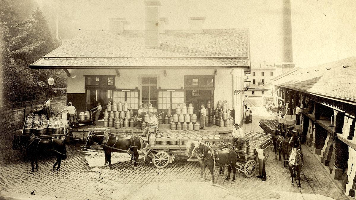 Fábrica de Nestlé en Vevey (Suiza) - 1866