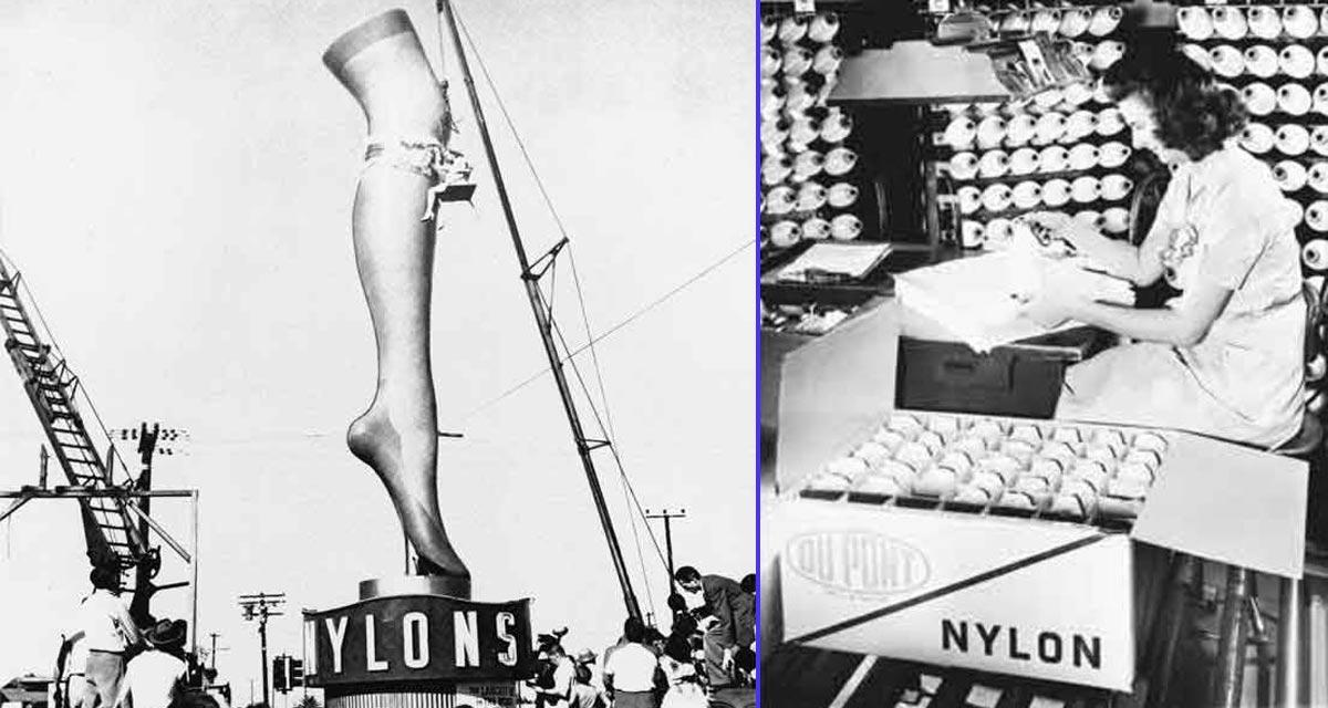 Fabricación de medias de nylon de DuPont