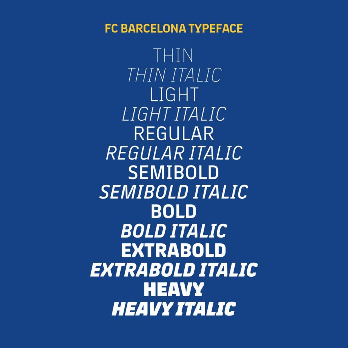 Nueva tipografias del Barsa