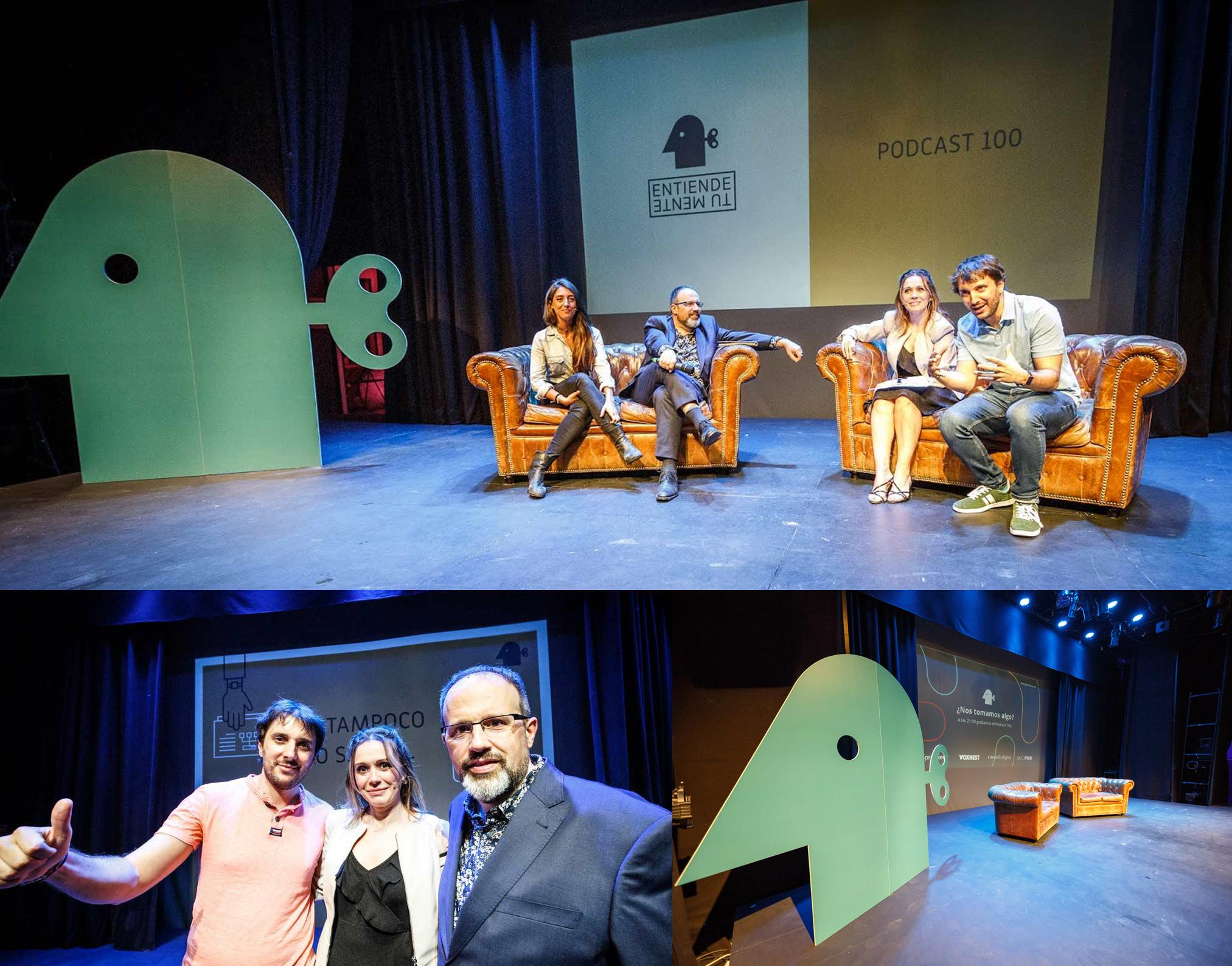 Molo Cebrián, Luis Muiño, Mónica y Sara