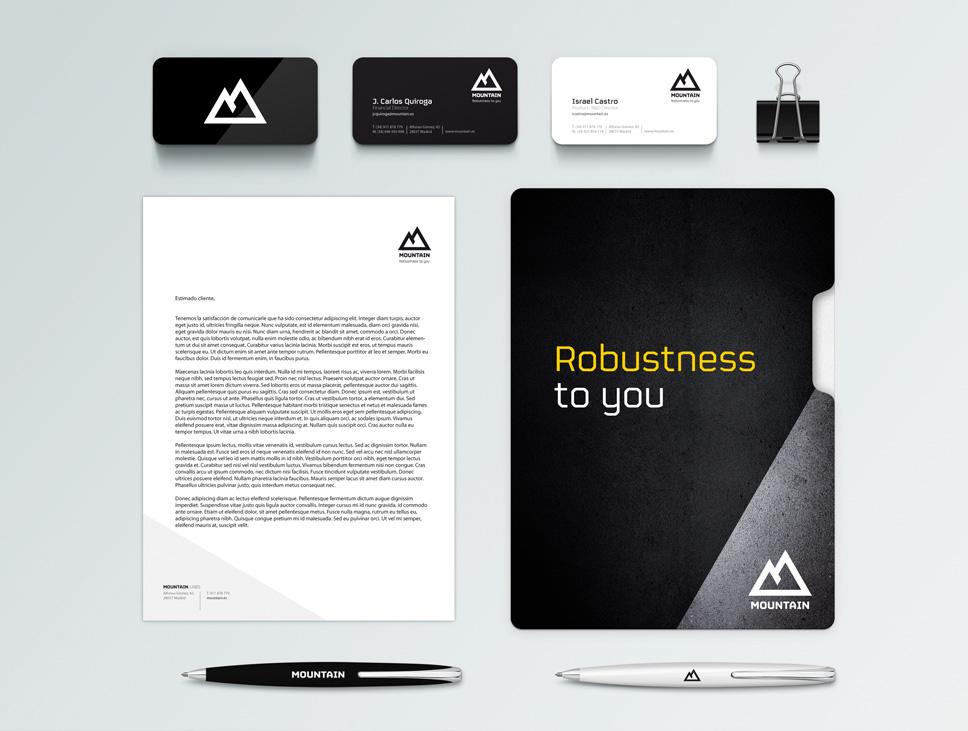 Diseño de papelería de Mountain