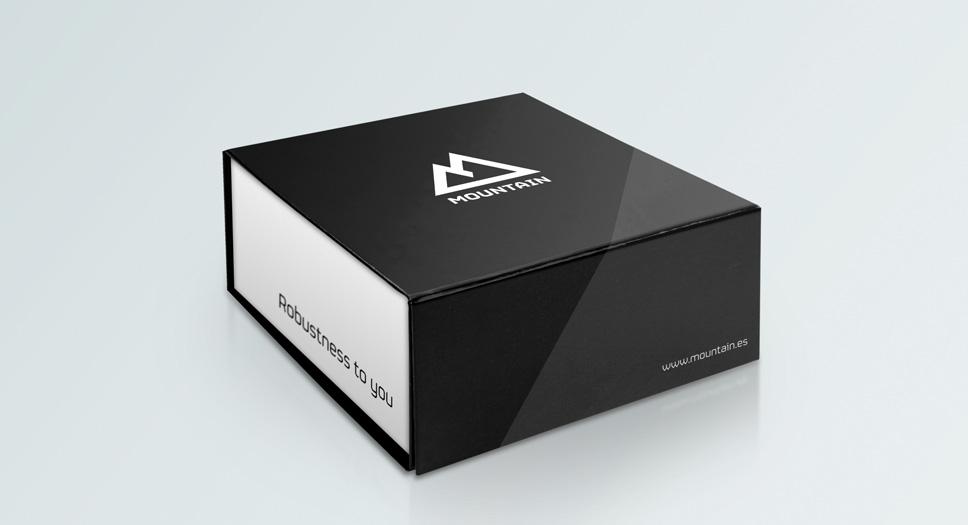 Diseño del packaging de los ordenadores Mountain