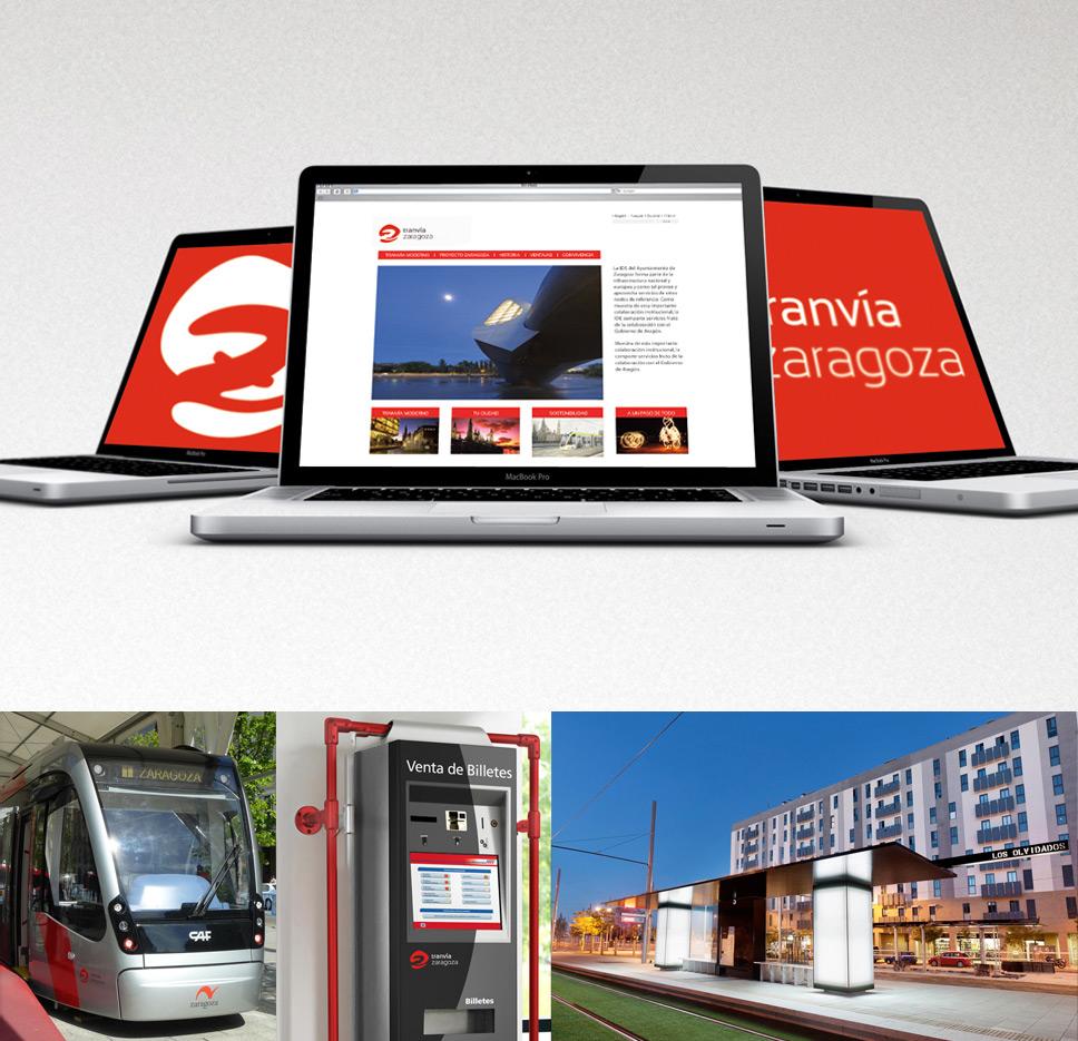 branding corporativo tranvía de Zaragoza