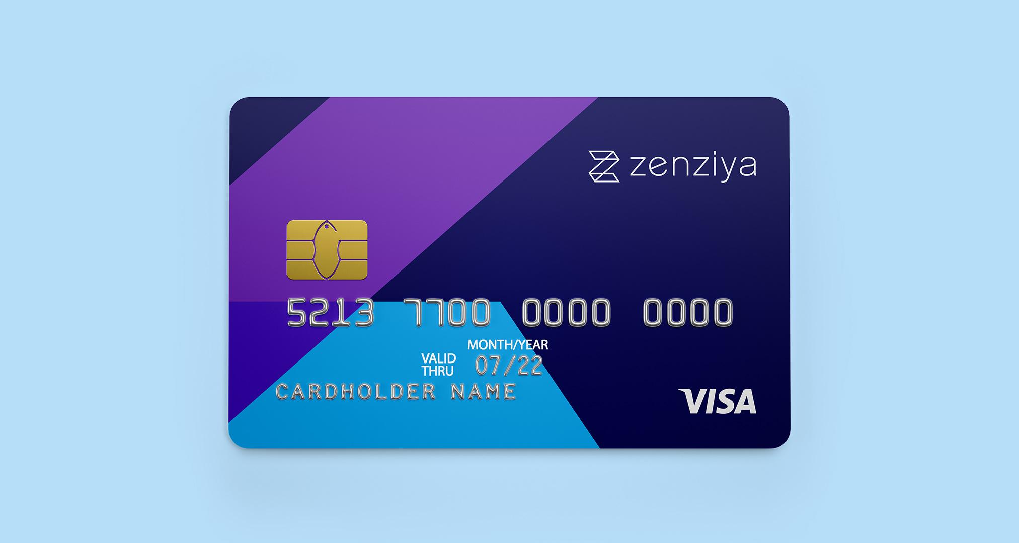 Diseño de tarjeta de visita Zenziya