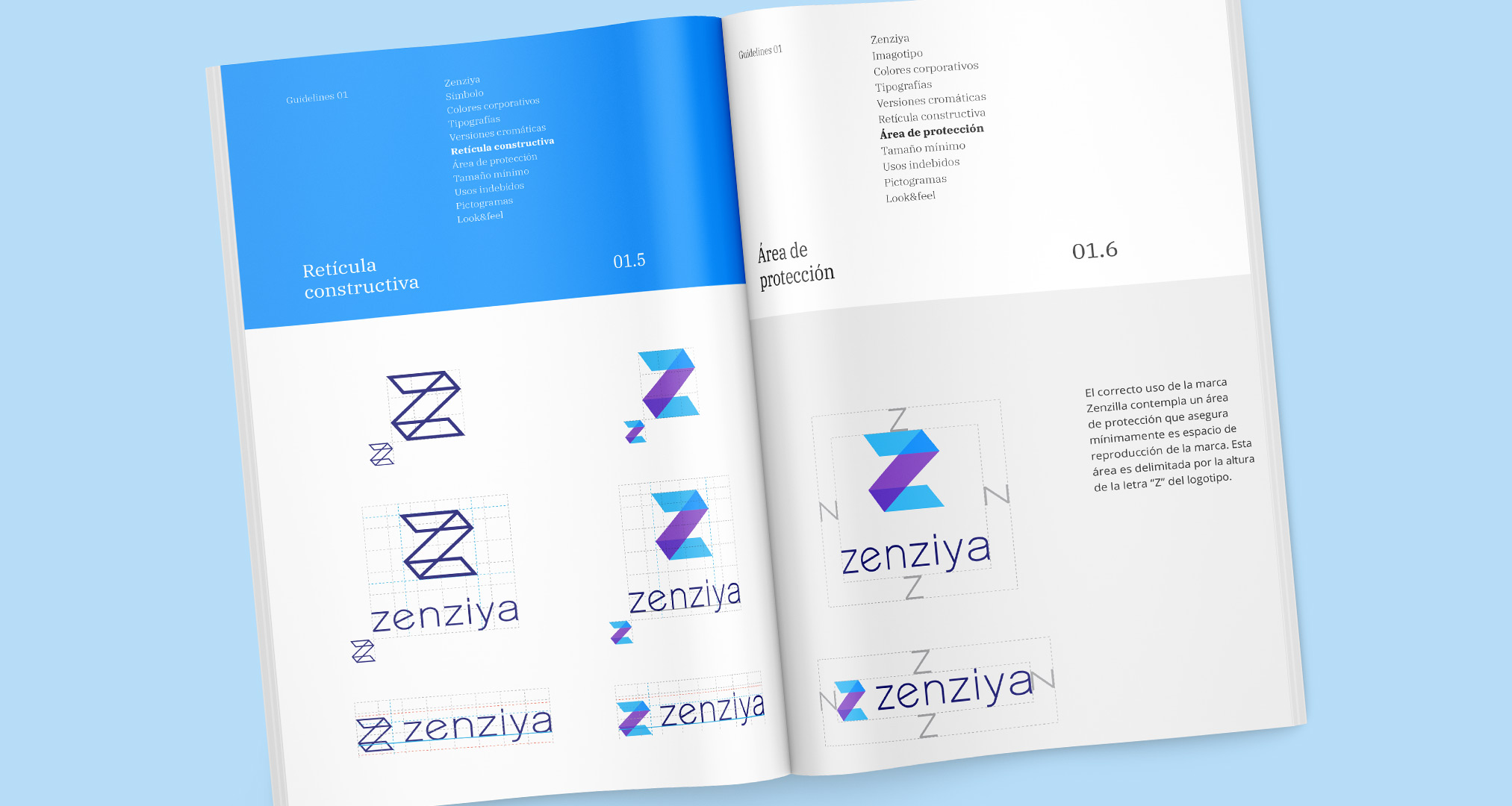 Manual de identidad visual Zenziya