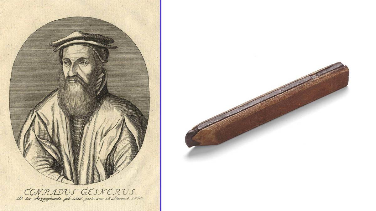 Conrad von Gesner, inventor del lápiz - Uno de los primeros lápices de la historia