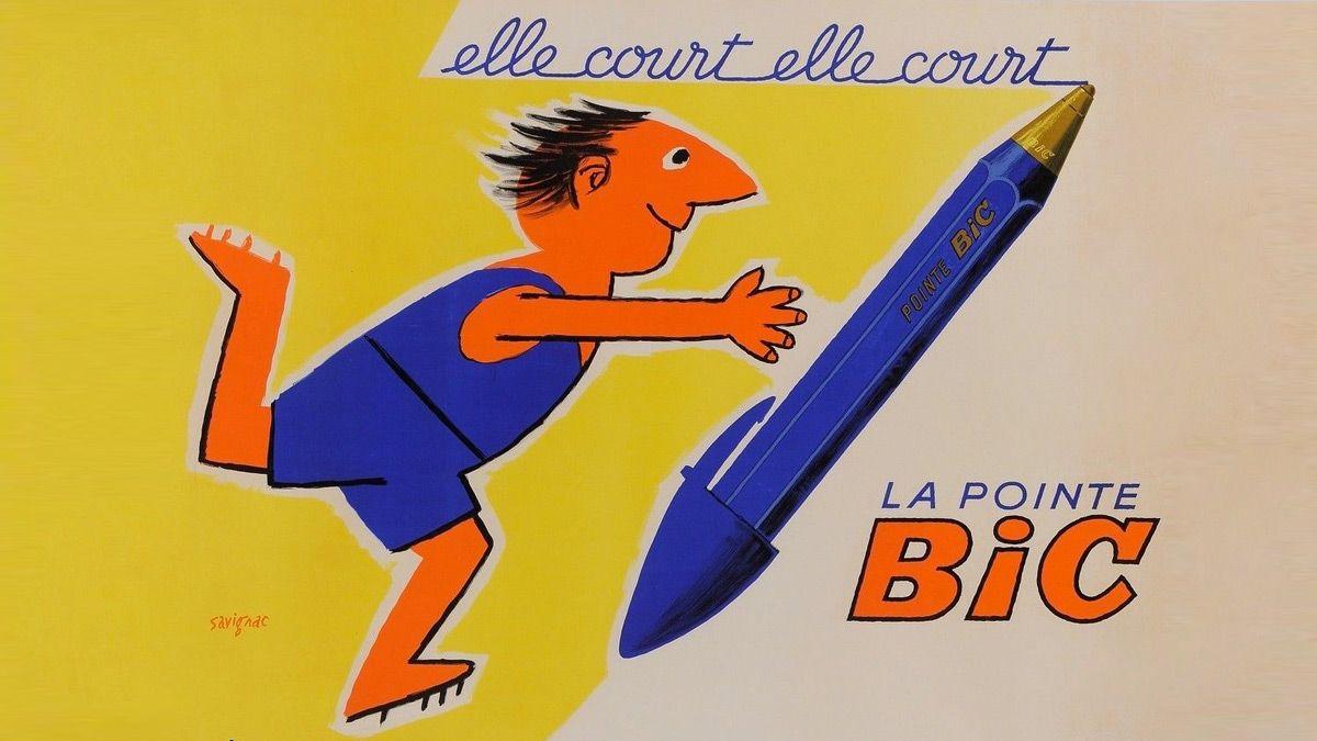 Primera campaña de BiC, diseñada por Savignac en 1952