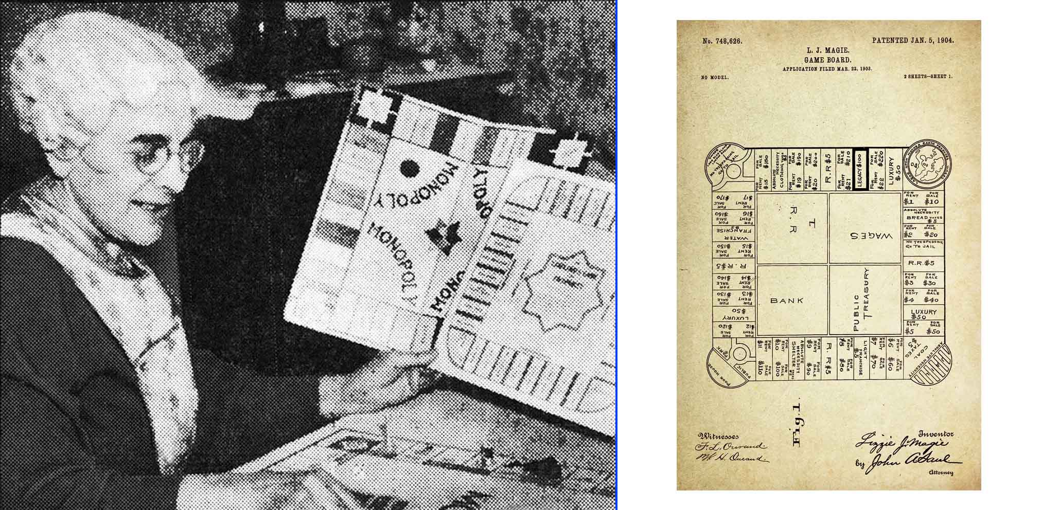 Lizzie Magie, la auténtica inventora del Monopoly