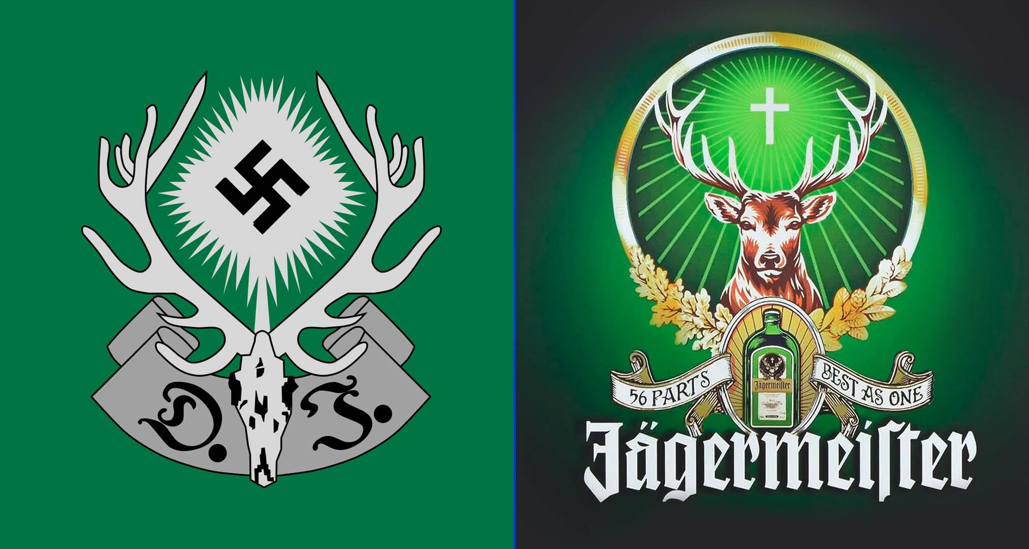 Escudo de la Deutsche Jägerschaft (ojo al parecido con la marca Jäger)