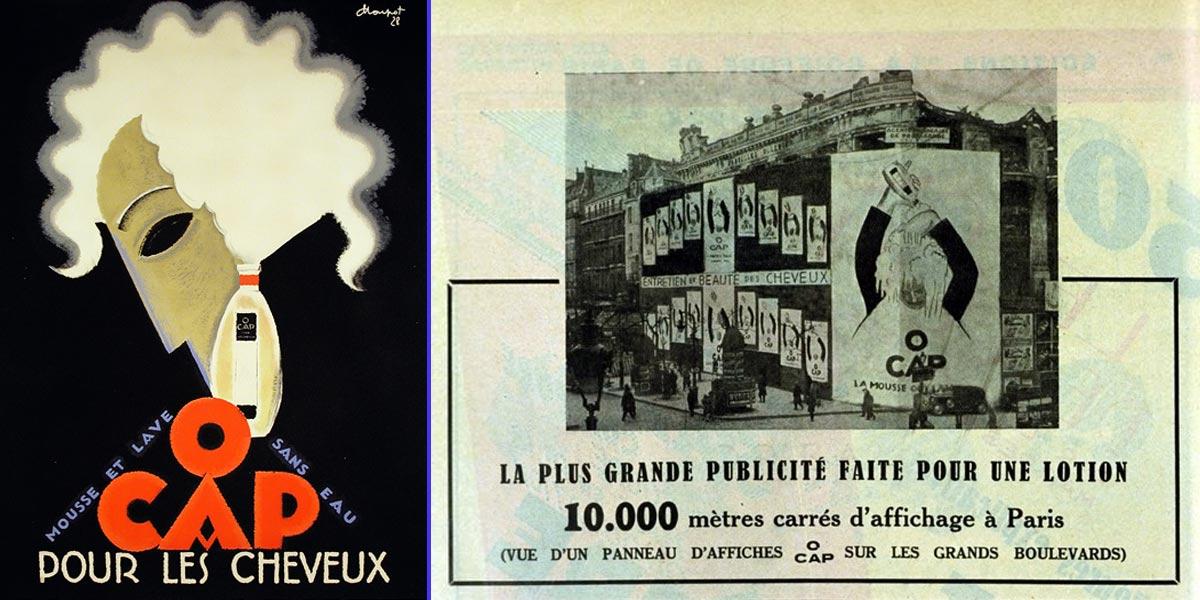 El fundador de L'oréal fue el primero en hacer publicidad en la fachada de un edificio - Cartel de Charles Loupot (1928)