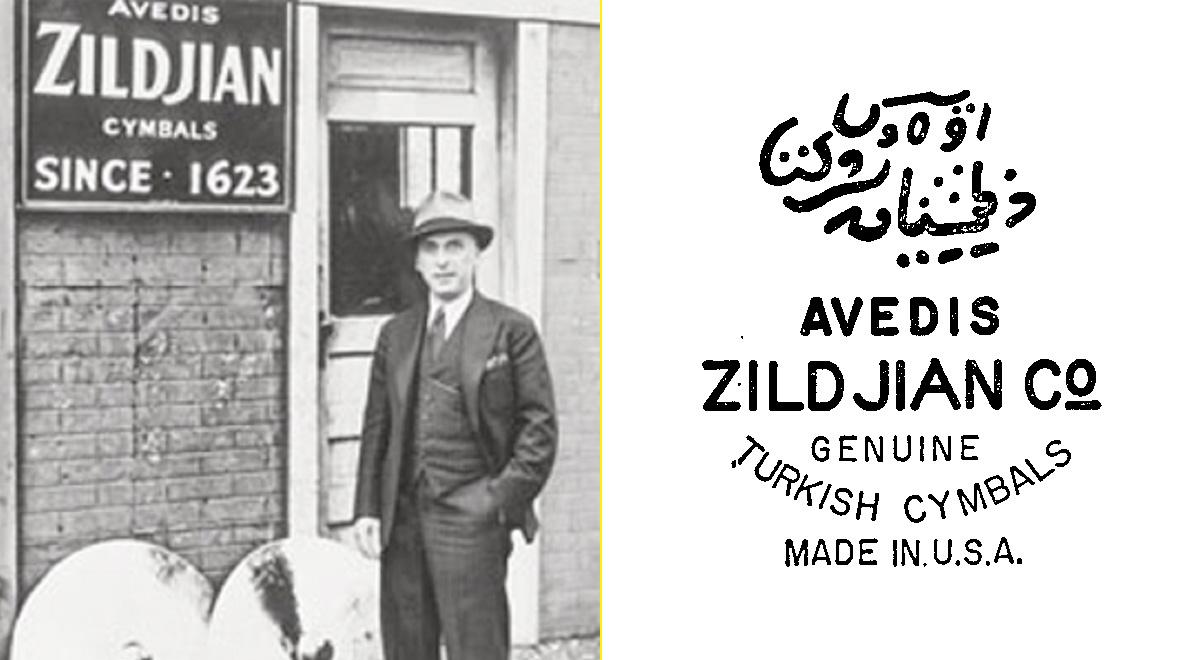 Avedis III y sello de la Avedis Zildjian Company