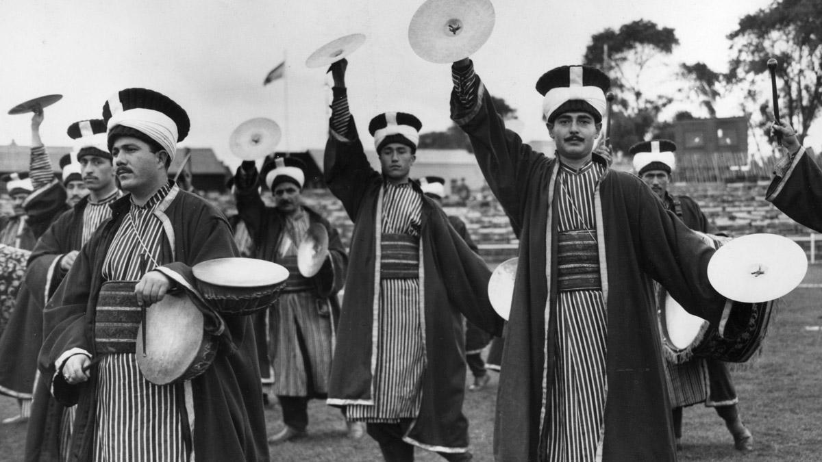 Banda militar turca a la manera de la época Otomana