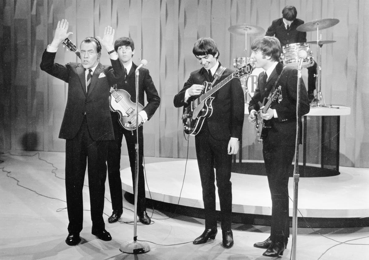 The Beatles en el show de Ed Sullivan en 9164 - Zildjian