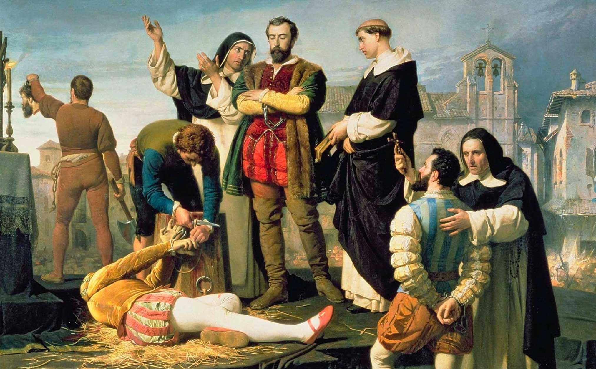 Carlos V ajusticiando a los comuneros