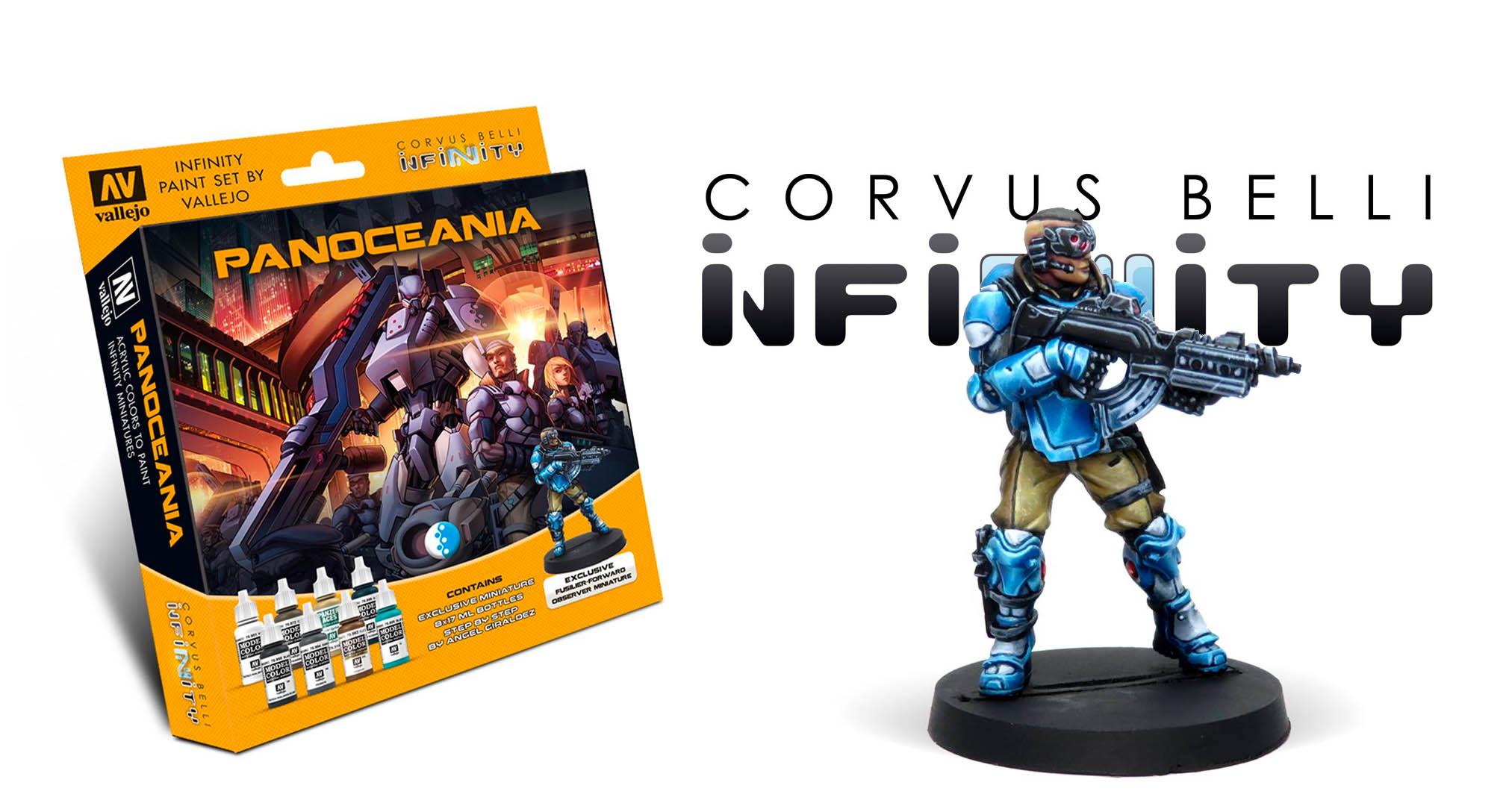 Vallejo y Corvus Belli unieron fuerzas para lanzar un set de pinturas para Infinity