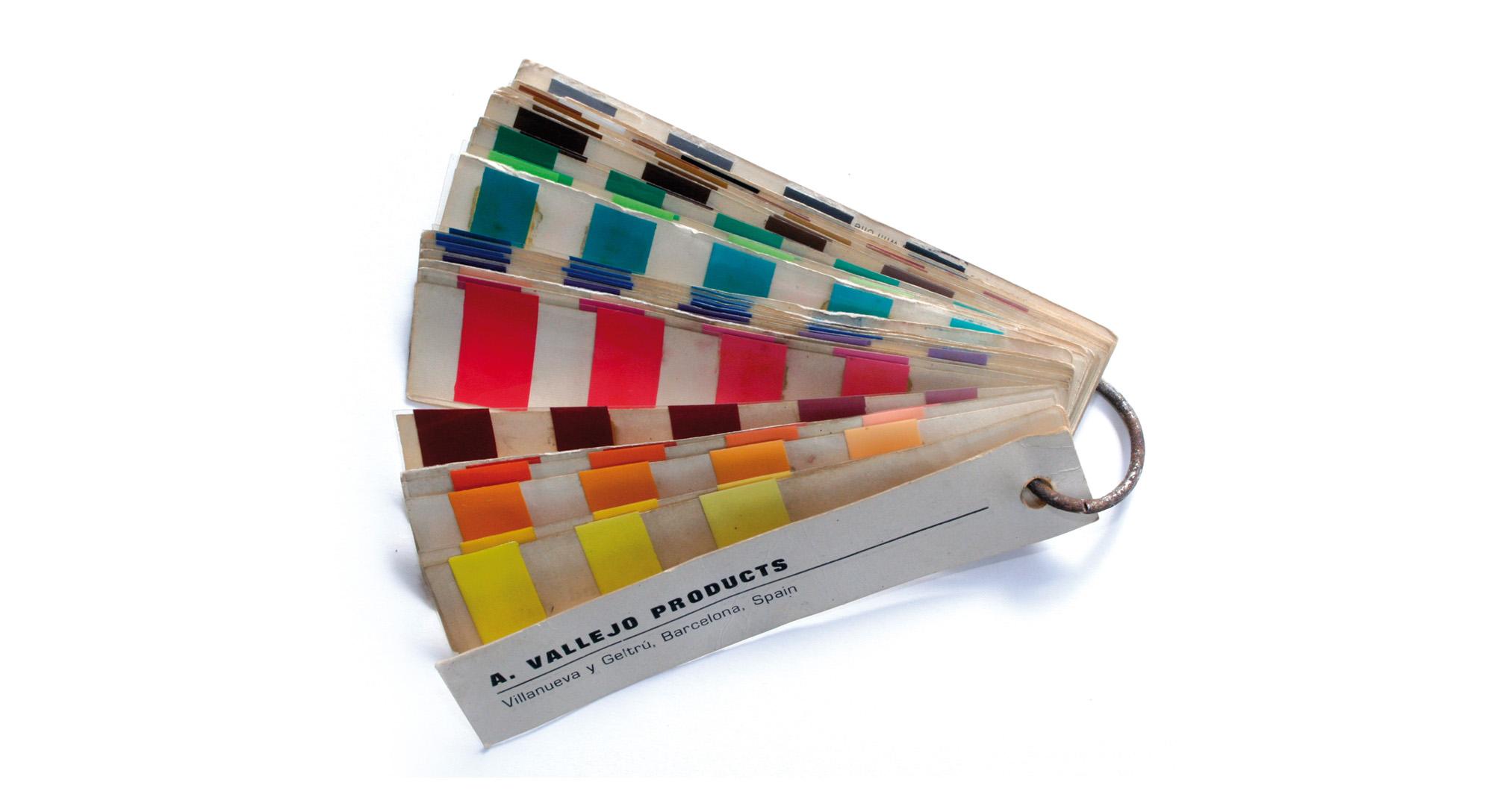 Una de las primeras cartas de colores de Vallejo, 1973