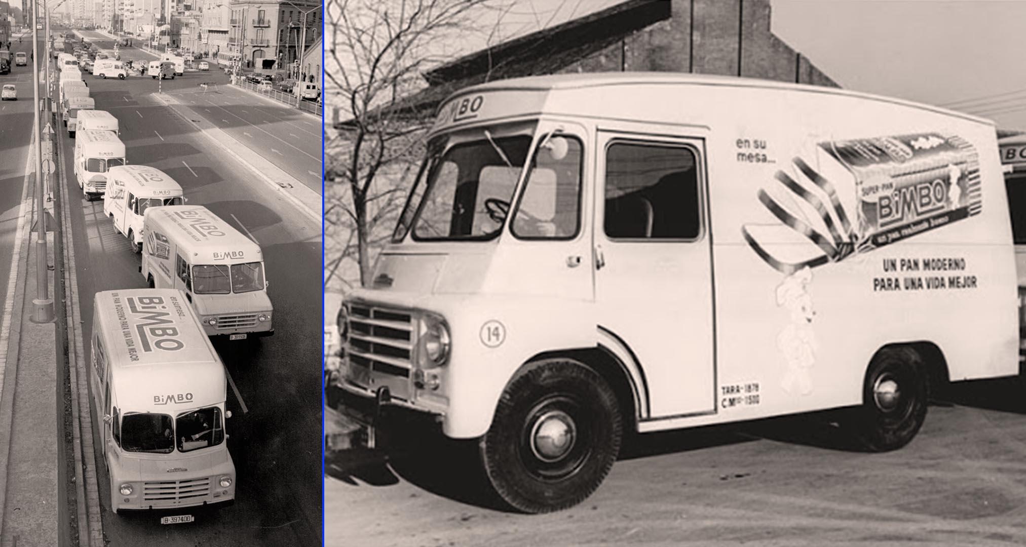 Mítico camión de reparto de Bimbo