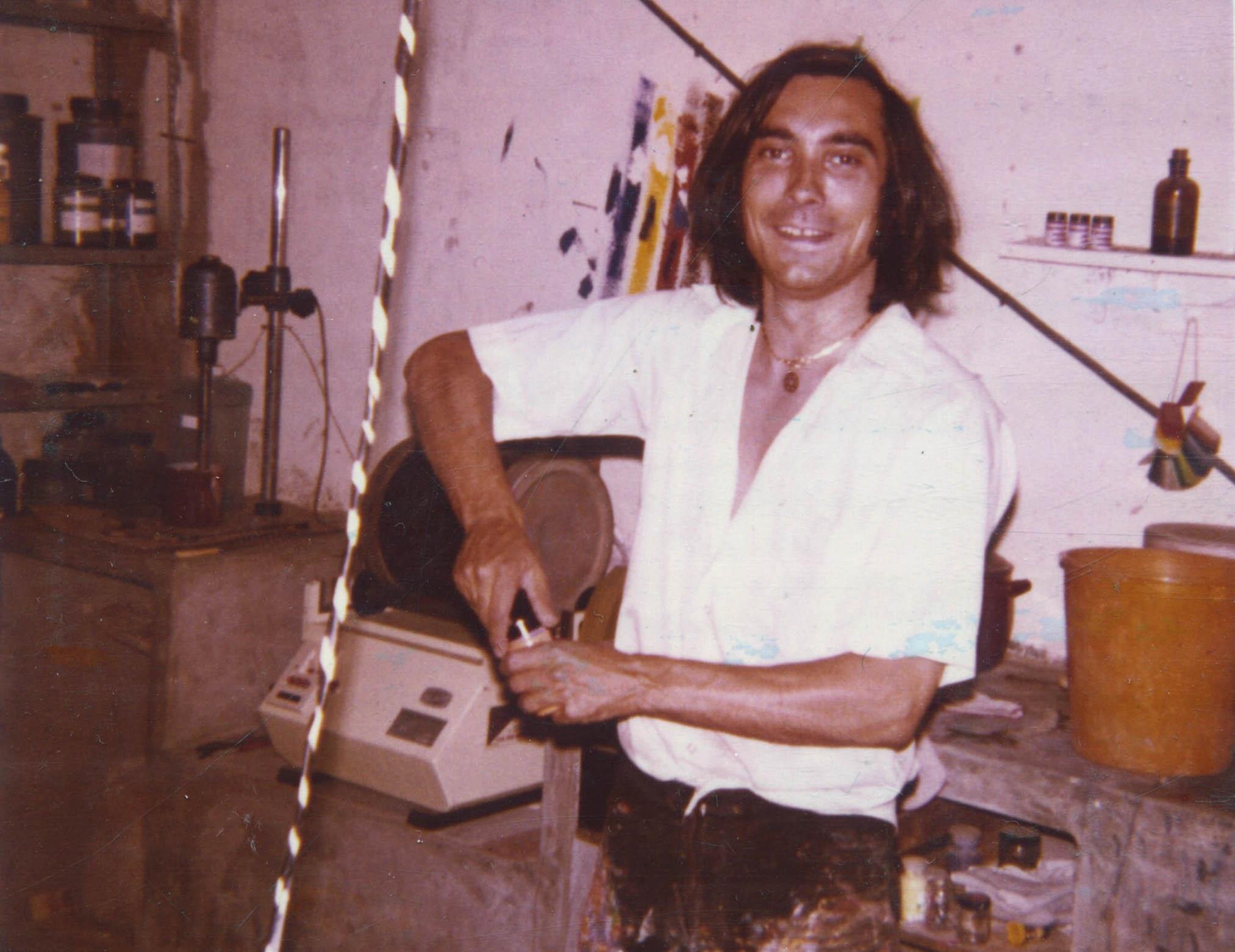 Amadeo Vallejo en su taller, 1971.