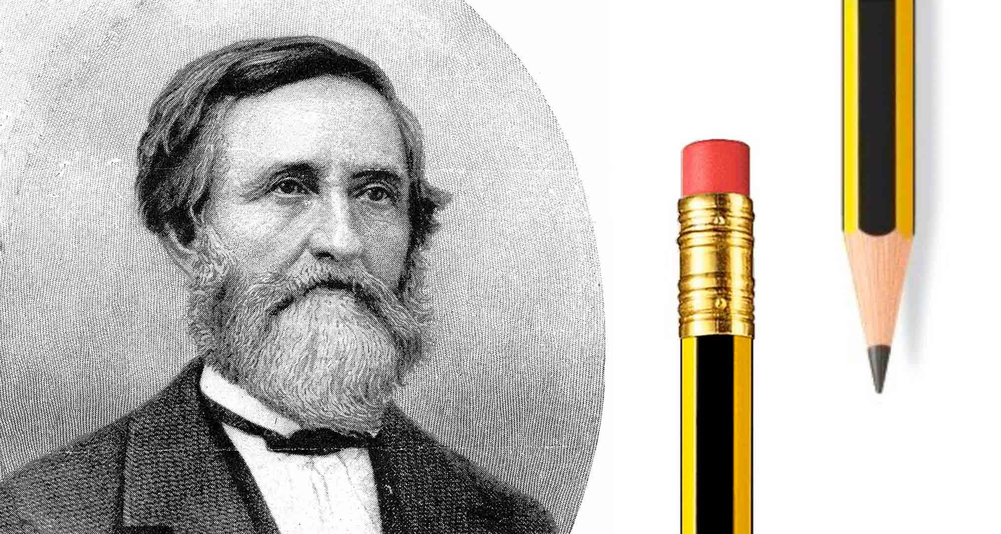 Hymen Lipman, creador del lápiz con goma